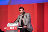 DEU, Deutschland, Germany, Berlin, 30.03.2019: Landesparteitag der Berliner SPD. Rede von Kian Niroomand, stv. Vorsitzender der AG Migration und Vielfalt in der Berliner SPD.