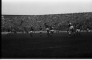 All Ireland Hurling Final - Cork vs Kilkenny.05.09.1982.09.05.1982.5th September 1982.Photograph of a midfield tussle for a high ball. A capacity crowd looks on.