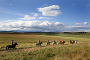 Horse riding in Southern Iceland. <br /> Hvitardalur
