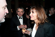 Rowan Atkinson; Sunetra Sastry, The Laurence Olivier Awards,The Grosvenor House Hotel, Park Lane. London.   21 March  2010