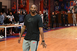 Kobe Bryant Dies In Helicopter Crash ---- Former NBA star Kobe Bryant supervises a training session for INSEP residents and a selection of the best players from the Paris region on October 21, 2017 in Paris, France. The promotional event was organized by the sports brand Nike, for the inauguration of the infrastructure improvements of a local basketball playground at the Jean-Jaures sports hall Le Quartier. Photo by Laurent Zabulon/ABACAPRESS.COM