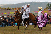 """ONE """"CHALAN"""" ON HIS HORSE DANCING MARINERA., .   The Hatun Luya is a festival celebrated every september 13th, where everyone from the surrounding areas comes together. During this festivity, you can witness demonstrations of popular customs."""