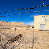 030113       Cable Hoover<br /> <br /> Old UNC structures and fences mark the boundaries of Section 17 north of Church Rock Saturday where a new URI uranium mine is proposed.