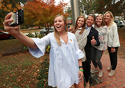 Secretary of State Brian Kemp, Republican candidate for Georgia governor, takes a selfie with his daughters Jarrett, from left, Amy Porter, Lucy, and his wife Marty after they voted at the Winterville Train Depot on Tuesday, Nov. 6, 2018, in Winterville, Ga. Photo by Curtis Compton/Atlanta Journal-Constitution/TNS/ABACAPRESS.COM