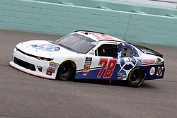 November 16, 2018 - Homestead, FL, U.S. - HOMESTEAD, FL - NOVEMBER 16: Vinnie Miller, driver of the #78 JAS Expedited Trucking LLC Chevy, during practice for the NASCAR Xfinity Series playoff race, the Ford EcoBoost 300 on November 16, 2018, at Homestead-Miami Speedway in Homestead, FL. (Photo by Malcolm Hope/Icon Sportswire) (Credit Image: © Malcolm Hope/Icon SMI via ZUMA Press)