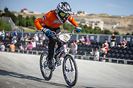 #269 during practice at the 2018 UCI BMX World Championships in Baku, Azerbaijan.