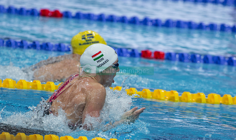 October 4, 2018 - Budapest, Hungary - Hosszu Katinka of Hungary competes in the Womens 100m Individual Medley on day one of the FINA Swimming World Cup held at Duna Arena Swimming Stadium on Okt 04, 2018 in Budapest, Hungary. (Credit Image: © Robert Szaniszlo/NurPhoto/ZUMA Press)