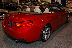 CHARLOTTE, NORTH CAROLINA - NOVEMBER 20, 2014: BMW 435i convertible on display during the 2014 Charlotte International Auto Show at the Charlotte Convention Center.