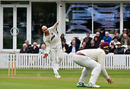 Jack Leach of Somerset bowling during the opening day of the Specsavers County Champ Div 1 match between Somerset County Cricket Club and Hampshire County Cricket Club at the Cooper Associates County Ground, Taunton, United Kingdom on 11 May 2018. Picture by Graham Hunt.