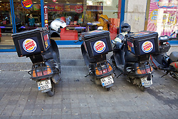 Burger King Delivery Motobikes