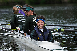 © Licensed to London News Pictures.13/06/15<br /> Durham, England<br /> <br /> A rowing cox reacts to the camera after their race during the 182nd Durham Regatta rowing event held on the River Wear. The origins of the regatta date back  to commemorations marking victory at the Battle of Waterloo in 1815. This is the second oldest event of this type in the country and attracts over 2000 competitors from across the country.<br /> <br /> Photo credit : Ian Forsyth/LNP