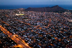 Aerial view of Honolulu, Oahu, Hawaii