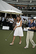 ANNA ZOUMARAS, Alfred Dunhill Million Dollar Putt, the Dunhill Clubhouse. Broadgate Arena.London EC2. 25 July 2006.  ONE TIME USE ONLY - DO NOT ARCHIVE  © Copyright Photograph by Dafydd Jones 66 Stockwell Park Rd. London SW9 0DA Tel 020 7733 0108 www.dafjones.com