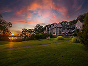 The sun sets on Caragh Lake at Ard na Sidhe Hotel in County kerry, Ireland.<br /> Picture by Don MacMonagle<br /> www.macmonagle.com