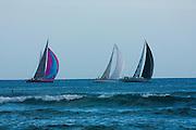 Sailboat race off Waikiki, Hawaii