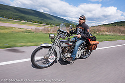 Ben Brown of Pennsylvania on his 1915 Harley-Davidson Motorcycle Cannonball Race of the Century. Stage-2 from York, PA to Morgantown, WV. USA. Sunday September 11, 2016. Photography ©2016 Michael Lichter.