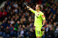 Joe Hart , the goalkeeper of West Ham United. Premier league match, West Bromwich Albion v West Ham United at the Hawthorns stadium in West Bromwich, Midlands on Saturday 16th September 2017. pic by Bradley Collyer, Andrew Orchard sports photography.