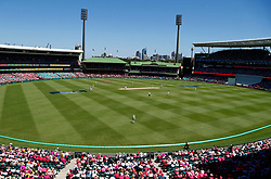 General view during day two of the Ashes Test match at Sydney Cricket Ground.