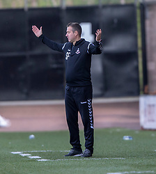Airdrie's manager Steve Findlay. Airdrie 3 v 4 Raith Rovers, Scottish Football League Division One played 25/8/2018 at the Excelsior Stadium.