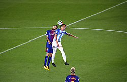 October 21, 2017 - Barcelona, Catalonia, Spain - Sergio Busquets and Rosales during La Liga match between FC Barcelona v Malaga CF, in Barcelona, on October 21, 2017. (Credit Image: © Joan Valls/NurPhoto via ZUMA Press)