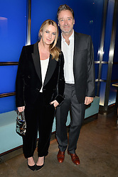 ANYA HINDMARCH and JAMES SEYMOUR at a dinner hosted by Anya Hindmarch and Dylan Jones to celebrate the end London Collections: Men 2014 held at Hakkasan, 8 Hanway Place, London on 8th January 2014.