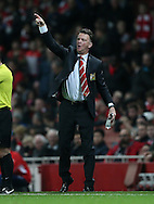 Manchester United's Louis Van Gaal looks on<br /> <br /> Barclays Premier League- Arsenal vs Manchester United - Emirates Stadium - England - 22nd November 2014 - Picture David Klein/Sportimage
