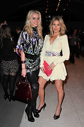 Left to right, NOELLE RENO and HOFIT GOLAN at the Issa Autumn Winter 2011 fashion show as part of the London Fashion Week held at Somerset House, Strand, London on 19th February 2011.