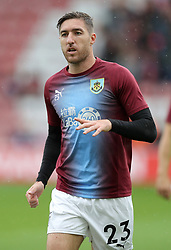 """Burnley's Stephen Ward before the Premier League match at St Mary's, Southampton. PRESS ASSOCIATION Photo. Picture date: Sunday August 12, 2018. See PA story SOCCER Southampton. Photo credit should read: Andrew Matthews/PA Wire. RESTRICTIONS: EDITORIAL USE ONLY No use with unauthorised audio, video, data, fixture lists, club/league logos or """"live"""" services. Online in-match use limited to 120 images, no video emulation. No use in betting, games or single club/league/player publications."""