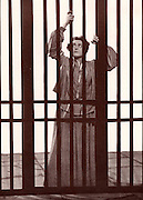 The novel 'Resurrection' by Leo Tolstoy (1899) was produced as a play in New York.  Here Katusha Maslova is in prison.  1903.