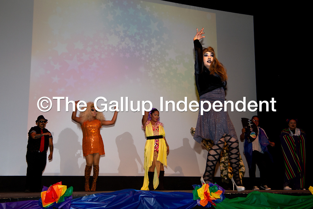 The El Morrow Theatre Stage was conquored by the fabulous Queens of the True Colors Drag Show Saturday night for the end of the Gallup PRIDEfest.