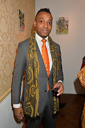 Singer & composer PAUL GLADSTONE REID at a private view of William Roper-Curzon's latest paintings held at Julian Hartnoll, 37 Duke Street, St.James's, London on 9th October 2014.