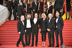 Joachim Lafosse, Reda Kateb, Uma Thurman, Karel Och and Mohamed Diab attending the Based On A True Story (D'Apres Une Histoire Vraie) screening during the 70th Cannes Film Festival on May 27, 2017 in Cannes, France. Photo by Julien Zannoni/APS-Medias/ABACAPRESS.COM