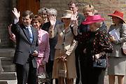 State visit of Luxembourg to the Netherlands /<br /> Staatsbezoek van Luxemburg aan Nederland<br /> <br /> On the photo / Op de foto;<br />  Farewell ceremonial on binnenhof in The Hague in the presence of the Grand Duke  of Luxembourg (Prince Henri van Luxemburg ), queen Beatrix, maxima and Willem Alexanderand Premier Balkenende.<br /> <br /> Afscheidsceremonieel op het Binnenhof in Den Haag in aanwezigheid van de Groothertog (Prins Henri van Luxemburg ) en Groothertogin van Luxemburg , Koningin Beatrix, Maxima en Willem Alexander en Balkenende.