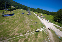 Panoramic view at MTB Downhill European Championships, on June 14, 2009, at Kranjska Gora, Slovenia. (Photo by Vid Ponikvar / Sportida)