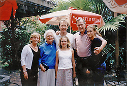 (l to r) Sharon, Barbara, Neil, US former President George Bush and Lauren poses with Ashley Walker Bush (c). Ashley, niece of US President George W. Bush, will participate at the 15th annual Paris Haute Couture Ball, held at the Hotel de Crillon in Paris on November 26, 2005 and will wear a Ralph Lauren creation. Photo by Courtesy Family/ABACAPRESS.COM. Credit Mandatory : Crillon Hotel, Mikimoto Jewels