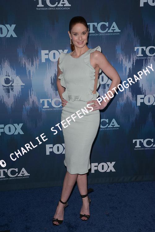 SARAH WAYNE CALLIES at the Fox Winter TCA 2017 All-Star Party at the Langham Hotel in Pasadena, California