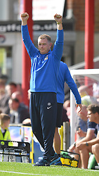 Coventry City's Manager Mark Robins celebrated victory against Grimsby Town