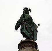 Bronze Figure of St. Peter (Top of Trajan's Column) Rome 2013. Commenmorating Roman Emperor Trajan's victory in the Dacian Wars.