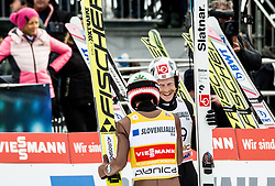 Kamil Stoch (POL) // Kamil Stoch of Poland and Robert Johansson (NOR) // Robert Johansson of Norway celebrate after the 2nd Round of the Ski Flying Hill Individual Competition at Day 2 of FIS Ski Jumping World Cup Final 2018, on March 23, 2018 in Planica, Slovenia. Photo by Vid Ponikvar / Sportida