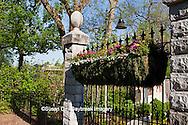 65021-03517 Display garden and hanging basket in spring, Missouri Botanical Gardens  St Louis, MO