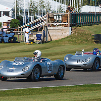 1959 Porsche 718 RSK in the 1959 RAC TT track demonstration at Goodwood Revival 2019