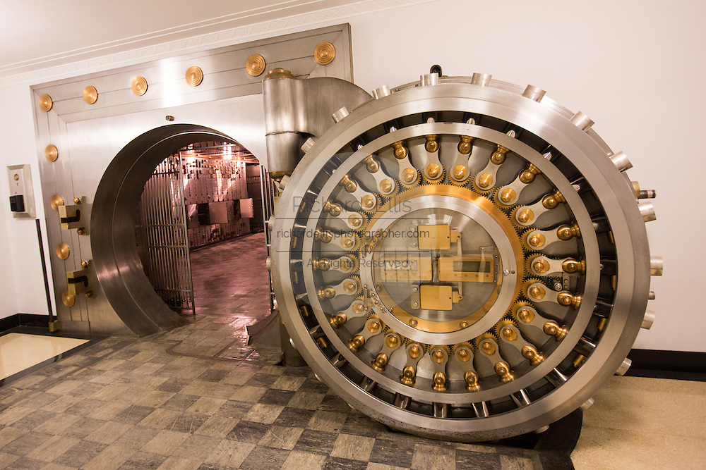 Underground vault at the Chicago Board of Trade October 20, 2013 in Chicago, IL. The vault was opened for the first time in 83-years for public tours.
