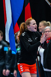 Dione Housheer of Netherlands before the Women's EHF Euro 2020 match between Netherlands and Germany at Sydbank Arena on december 14, 2020 in Kolding, Denmark (Photo by RHF Agency/Ronald Hoogendoorn)