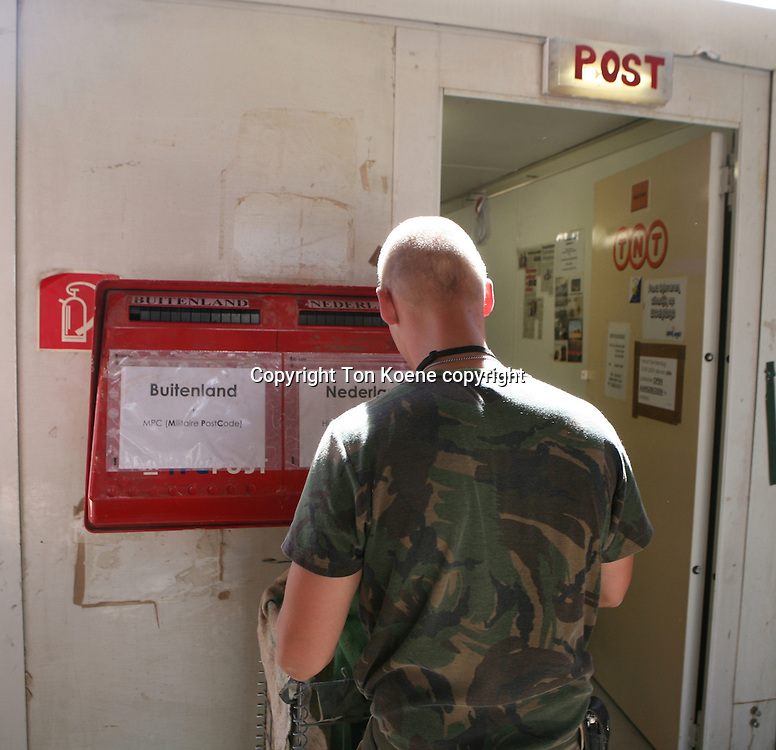 post office in Kandahar. Mail is sent once a week to europe.