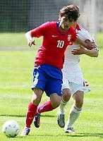 Fotball<br /> Italia / Serbia<br /> Foto: imago/Digitalsport<br /> NORWAY ONLY<br /> <br /> 25.05.2010 Hall in Tirol, Serbien (rot) vs Dänemark (weiß), Uefa Under 19 Euro qualify: Adem Ljaji<br /> <br /> BILDET INNGÅR IKKE I FASTAVTALENE