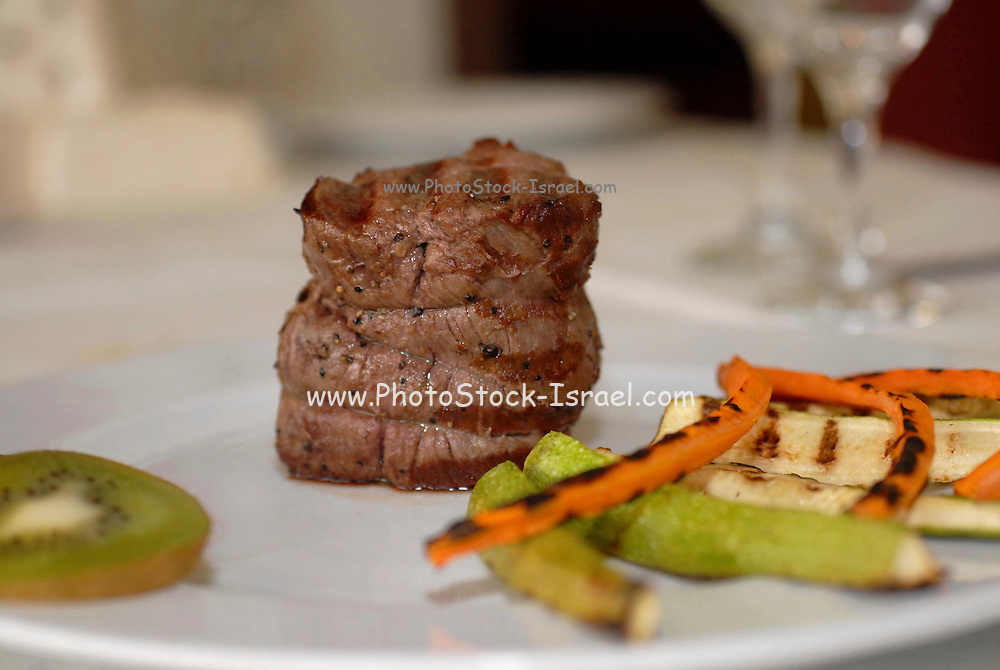 A plate with fillet steak