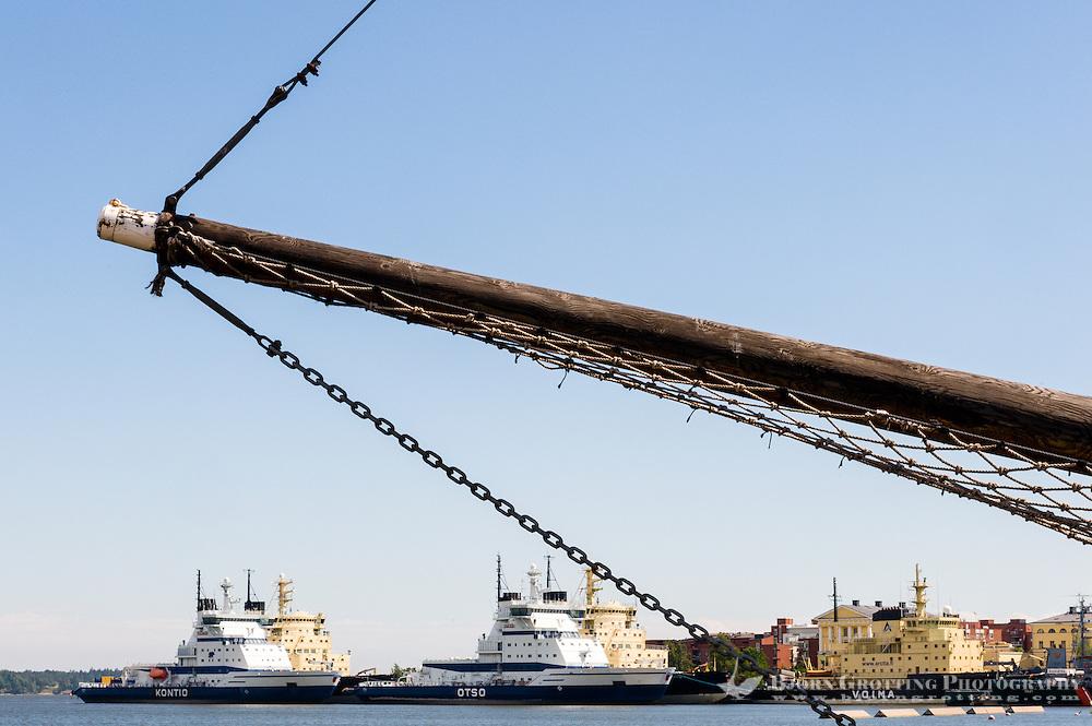 Finland, Helsinki. Pohjoissatama harbour.