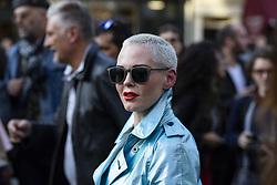 September 14, 2018 - Londres, Inglaterra - LONDRES, LO - 14.09.2018: LONDON FASHION WEEK - Rose McGowan at London Fashion Week September 2018 held at Freemasons Hall, Covent Garden, London, England. (Credit Image: © Richard Callis/Fotoarena via ZUMA Press)