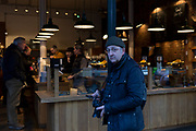 Photographer David Levenson in Borough Market in Southwark, on 28th January 2020, in London, England.