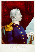 The People's Choice 1847. Commemorative badge for  President Zachary Taylor. Nathaniel Currier